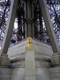 Το άγαλμα του Gustave Eiffel, Παρίσι, Γαλλία Στοκ Φωτογραφίες