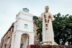 Το άγαλμα του Saint-Paul στην εκκλησία του ST Paul ` s είναι ένα ιστορικό κτήριο εκκλησιών σε Melaka, Μαλαισία Στοκ φωτογραφίες με δικαίωμα ελεύθερης χρήσης