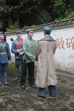Το άγαλμα των επαναστατικών μόνιμων προσωπικών και των χωρικών για να τινάξει παραδίδει τον κόκκινο στρατό Parkï ¼ Œshenzhen, Κίν Στοκ εικόνες με δικαίωμα ελεύθερης χρήσης