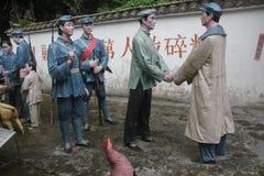 Το άγαλμα των χωρικών που βλέπουν τον κόκκινο στρατό στον κόκκινο στρατό Parkï ¼ Œshenzhen, Κίνα Στοκ εικόνα με δικαίωμα ελεύθερης χρήσης