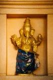 Το άγαλμα Ganesha ινδός ένας deitiy στον τοίχο του ναού μέσα σε Batu ανασκάπτει Σπηλιές Batu - ένα συγκρότημα των σπηλιών ασβεστό Στοκ φωτογραφία με δικαίωμα ελεύθερης χρήσης