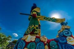 Το άγαλμα Guan Yu σε Phuket, Ταϊλάνδη Στοκ Φωτογραφία