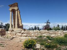 Το άδυτο απόλλωνα Hylates στο Κούριο στοκ φωτογραφία
