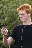 το άκουσμα συντονίζει Στοκ Φωτογραφίες