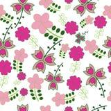 Το άνευ ραφής αφελές floral διάνυσμα επαναλαμβάνει την ανασκόπηση Στοκ Φωτογραφίες