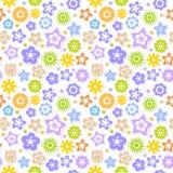 Το άνευ ραφής διάνυσμα χρωμάτισε λαμπρά το floral υπόβαθρο Στοκ Φωτογραφία