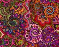 Το άνευ ραφής διανυσματικό σχέδιο με παραδοσιακός ασιατικός floral Στοκ εικόνα με δικαίωμα ελεύθερης χρήσης