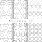 Το άνευ ραφής συμμετρικό αφηρημένο διανυσματικό υπόβαθρο στο αραβικό ύφος φιαγμένο από αποτυπώνει τις γεωμετρικές μορφές σε ανάγλ Στοκ Φωτογραφία