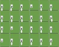 Το άνευ ραφής σχέδιο αποθήκευσης αποσκευών απεικόνιση αποθεμάτων