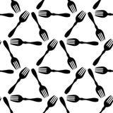 Το άνευ ραφής σχέδιο που μαγειρεύει το μαύρο δίκρανο, τυλίγοντας έγγραφο για το άσπρο υπόβαθρο επιλογών, cookbook καλύπτει το πρό διανυσματική απεικόνιση
