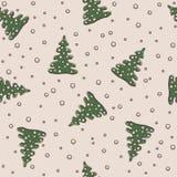 Άνευ ραφής Χριστούγεννα σχεδίων και νέο θέμα έτους Στοκ Φωτογραφία