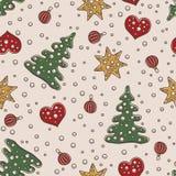 Άνευ ραφής Χριστούγεννα σχεδίων και νέο θέμα έτους Στοκ φωτογραφία με δικαίωμα ελεύθερης χρήσης