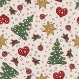 Άνευ ραφής Χριστούγεννα σχεδίων και νέο θέμα έτους Στοκ εικόνα με δικαίωμα ελεύθερης χρήσης