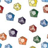 Άνευ ραφής γεωμετρικό σχέδιο. Στοκ Φωτογραφίες