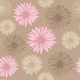 Το άνευ ραφής σχέδιο στην κρητιδογραφία χρωματίζει τα λουλούδια Στοκ Φωτογραφίες