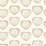 Άνευ ραφής σχέδιο των μορφών καρδιών Στοκ Φωτογραφία