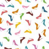 Το άνευ ραφής σχέδιο υψηλό βάζει τακούνια στα παπούτσια Μόδα απεικόνιση αποθεμάτων