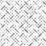 Το άνευ ραφής σχέδιο, όπως το μέταλλο, οι διαγώνιες σειρές, θόλωσαν μαύρα ovals σφαιρών Στοκ Εικόνα