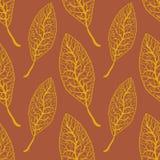 Το άνευ ραφής φθινόπωρο αφήνει την απεικόνιση σχεδίων Στοκ Φωτογραφία