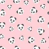 Το άνευ ραφής panda αφορά το σχέδιο το ρόδινο υπόβαθρο ελεύθερη απεικόνιση δικαιώματος