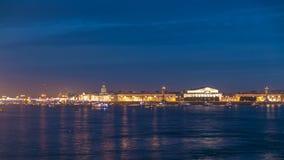 Το άνοιγμα της γέφυρας παλατιών timelapse, πολλή στέλνει και βάρκες πετώντας εστιατόριο Ρωσία Άγιος Paul Peter Πετρούπολη φρουρίω απόθεμα βίντεο