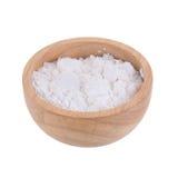 Το άσπρο αλεύρι καλαμποκιού κονιοποιεί ένα δημοφιλές συστατικό τροφίμων που χρησιμοποιείται στο ψήσιμο στοκ εικόνες