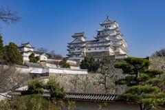 Το άσπρο κάστρο ερωδιών - Himeji Στοκ Εικόνα