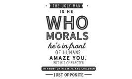 Το άσχημο άτομο είναι αυτός που τα ήθη αυτός ` s μπροστά από τον άνθρωπο σας καταπλήσσουν ελεύθερη απεικόνιση δικαιώματος