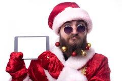 Το άτομο έντυσε ως Άγιος Βασίλης στοκ εικόνες