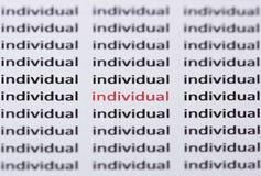 Το άτομο λέξης που τονίζεται στο κόκκινο με τη ρηχή εστίαση Στοκ εικόνες με δικαίωμα ελεύθερης χρήσης