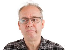 Το άτομο έχει τις σοβαρές αμφιβολίες Στοκ εικόνα με δικαίωμα ελεύθερης χρήσης