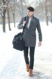 Το άτομο είναι περπάτημα βιασύνης Στοκ Εικόνα