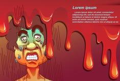 Το άτομο είναι συγκλονισμένο με το πρώτο πλάνο αίματος διανυσματική απεικόνιση