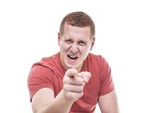 Το άτομο δείχνει το δάχτυλό του απειλητικά Στοκ Φωτογραφία