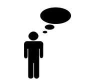 το άτομο εικόνας σκέφτετ&alp Στοκ εικόνα με δικαίωμα ελεύθερης χρήσης