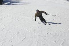 Το άτομο κάνει σκι Στοκ φωτογραφία με δικαίωμα ελεύθερης χρήσης