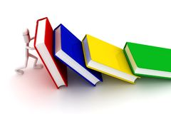 Το άτομο κρατά τα βιβλία ελεύθερη απεικόνιση δικαιώματος