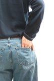 Το άτομο με δικούς του παραδίδει την πίσω τσέπη Στοκ Εικόνες