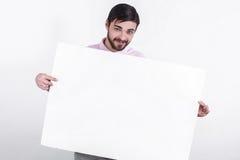 Το άτομο παρουσιάζει το μήνυμα στους ανθρώπους Στοκ φωτογραφία με δικαίωμα ελεύθερης χρήσης