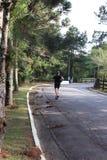 Το άτομο που τρέχει στο δρόμο στοκ εικόνες