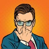 Το άτομο ρυθμίζει τα γυαλιά της ελεύθερη απεικόνιση δικαιώματος