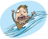 Το άτομο σκούπισε επάνω στην πλημμύρα απεικόνιση αποθεμάτων
