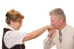 Το άτομο φιλά το χέρι Στοκ Εικόνες