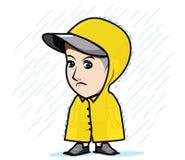 Το άτομο χαρακτήρα που φορά το καπέλο Στοκ Εικόνες