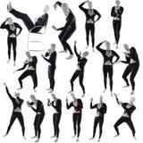 Το άτομο mime θέτει την τοποθέτηση Στοκ εικόνες με δικαίωμα ελεύθερης χρήσης