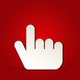 Το δάχτυλο χτυπά το εικονίδιο Στοκ Φωτογραφία