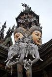 Το άδυτο της αλήθειας Ταϊλάνδη Στοκ φωτογραφίες με δικαίωμα ελεύθερης χρήσης