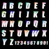 Το έγγραφο αποκόπτει την ξεφλουδισμένη επίδραση κειμένων αλφάβητου στοκ εικόνες
