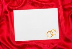 το έγγραφο καρτών χτυπά το γάμο Στοκ Εικόνα