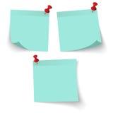 Το έγγραφο σημειώσεων ραβδιών με το μπλε χρώμα απομονώνει στο άσπρο υπόβαθρο Στοκ Φωτογραφίες
